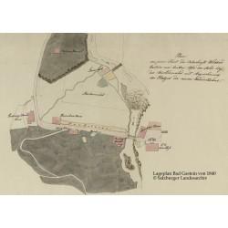 Lageplan Bad Gastein von 1840 © Salzburger Landesarchiv