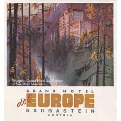 Prospekt Grand Hotel de l'Europe @ Gasteiner Museum