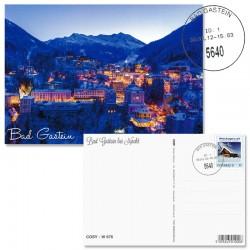 Postkarte Bad Gastein bei Nacht mit Versand